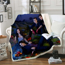 The Vampire Diaries 3d printed fleece blanket for Beds Hiking Picnic Thick Quilt Bedspread Sherpa Throw Blanket style-8