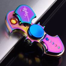 Inflatable Lighters Fingertip Gyro Glow In Dark Light Fidget Spinner Hand Top Spinners Stress Cigarette Accessories Mens Gift E