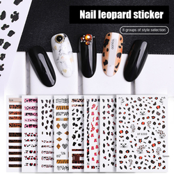 1 Pcs 6.5x9.6 Cm Leopard Nail Decals 3D Stereo Matte Tiger Self-adhesive Paper Fashion Nail Art Decoration