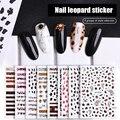 1 шт. 6,5x9,6 см леопардовые наклейки для ногтей 3D стерео матовый тигр самоклеящаяся бумага модные украшения для ногтей
