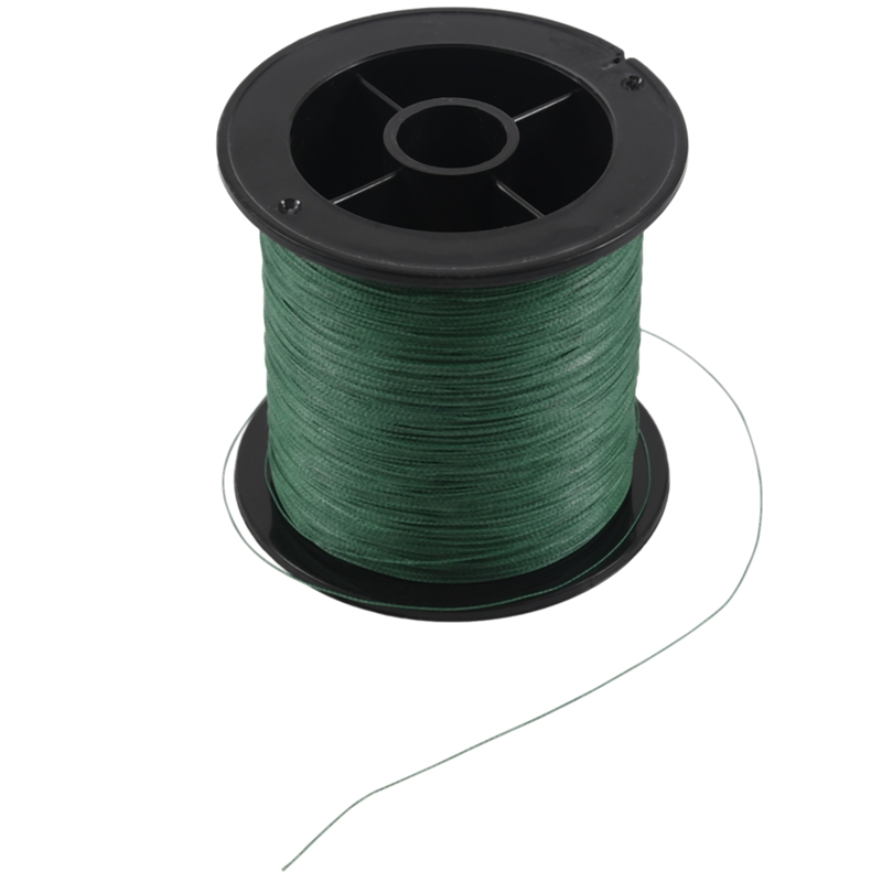 Top quality 4 strand 300m/330yard ink stick green 100% PE braided fishing line 15LB