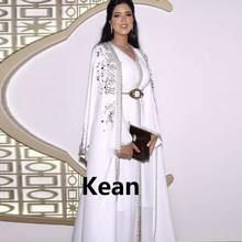 White Moroccan Kaftan Mother of the Bride Dresses
