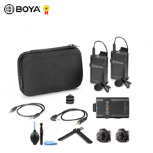 BOYA BY WM4 Pro 60M Wireless Video Audio Record DSLR Microphone Transmitter Receiver Lable Microphone Kit Vlog Live Lecture Mic