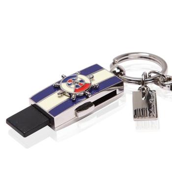 Fashion metal navy style USB2.0 customizable logo flash drive