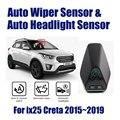 Smart Car Driving Assistant Sistema Per Hyundai ix25 ix 25 Creta 2015 ~ 2019 Auto Automatico Pioggia Wiper Sensor & faro Sensori