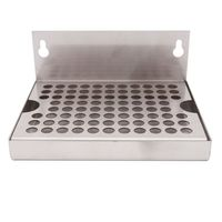 6 Wall Mout Beer Drip Tray No Drain 304 Stainless Steel 6L x 4.5W Homebrew Kegging Draft Beer