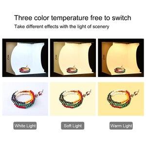 Image 4 - Cadiso Mini สตูดิโอไฟ LED Photo Light สีขาวกล่องแหวนพับแบบพกพา Lightbox ถ่ายภาพเต็นท์ Kit สำหรับถ่ายภาพ