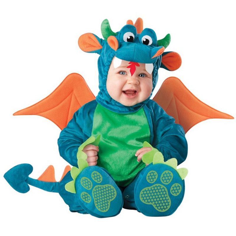 Lovely Animal Halloween Outfit For Baby Grow Infant Boys Girls Baby Fancy Dress Cosplay Costume Toddler Lion/Dinosaur/Penguin 40