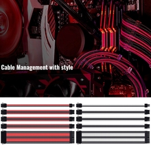 Kit de Cable de extensión ATX/PCI E de 18awg, Cable de alimentación de extensión ATX de 24 pines/EPS de 4 + 4 pines/PCI E de 8 pines/PCI E de 6 pines/EPS de 4 pines hembra a macho