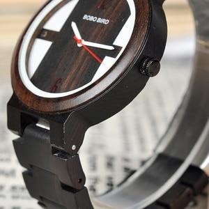 Image 4 - Relogio בובו ציפור עץ שעון גברים קוורץ שעוני יד חדש עיצוב שעונים עבור גברים ונשים עץ שעון מתנה Dropshipping