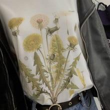 sunfiz HJN Dandelion Vintage Botanical Tshirt, Hiking TShirt, Botanical Print Shirt, Dandelion Shirt, Vintage Tee