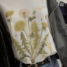 sunfiz HJN Dandelion Vintage Botanical Tshirt, Hiking TShirt