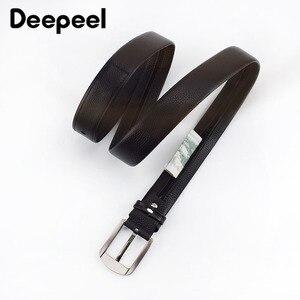 Image 2 - Deepeel 1pc 110 130cm שכבה הראשונה עור פרה גברים חגורת זכר מעצב רוכסן חגורות חידוש יוקרה קישוט החגורה יכול לשים כסף