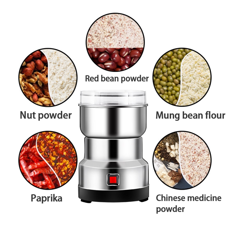 Electric Coffee Grinder Kitchen Cereals Nuts Beans Spices Grains Grinding Machine Multifunctional Home Coffe Grinder Machine 5