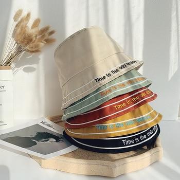 цена на Candy color Bucket Hat Men Women Bob Hip Hop Caps Summer  Sun hat Panama Fold Fashing Hat Solid Color