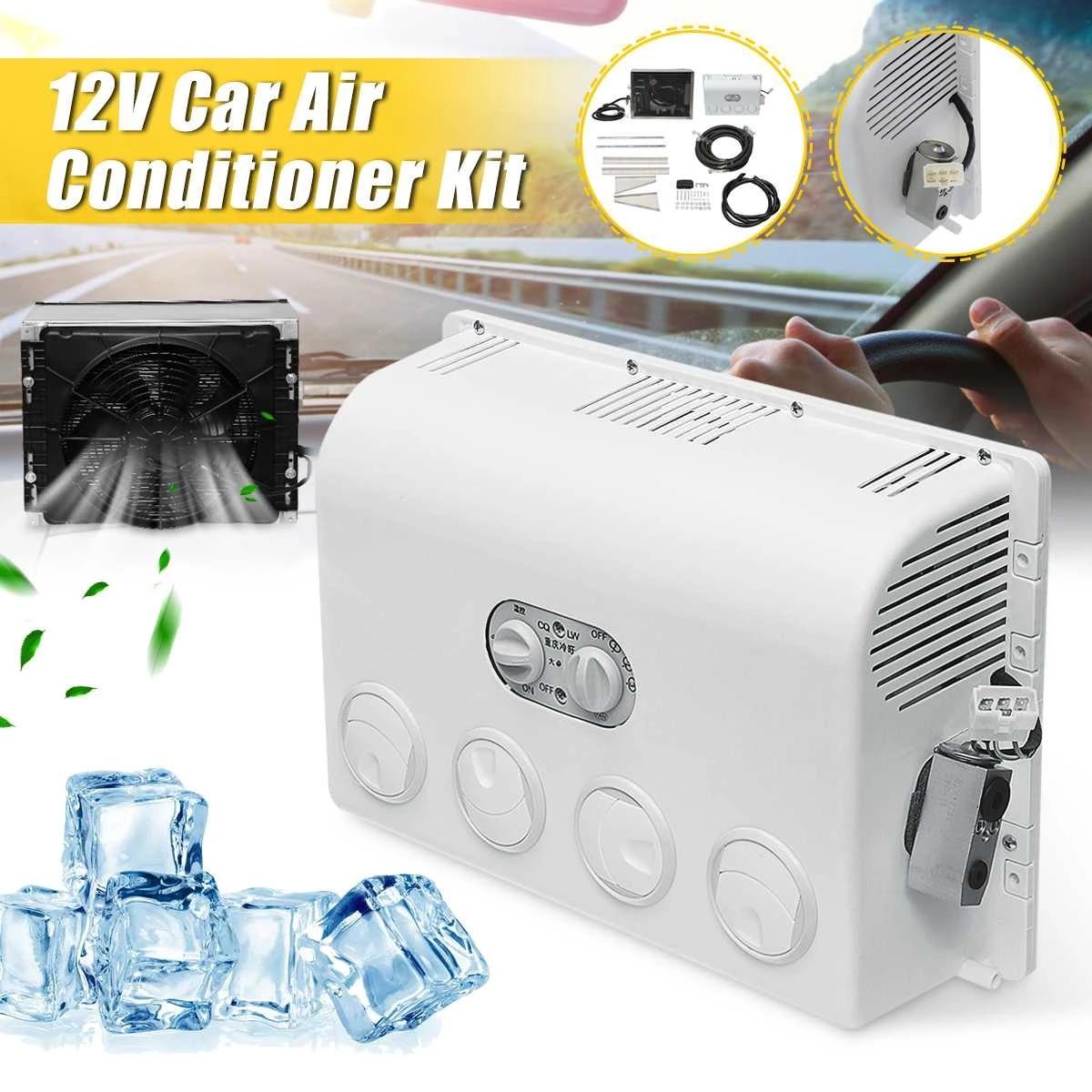 12V/24V duvara monte invertör klima hava nem alıcısı hava soğutma fanı klima  soğutucu oto araba için karavan kamyon Air-conditioning Installation