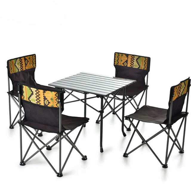 Outdoor Folding Camping Table Chair Set  2