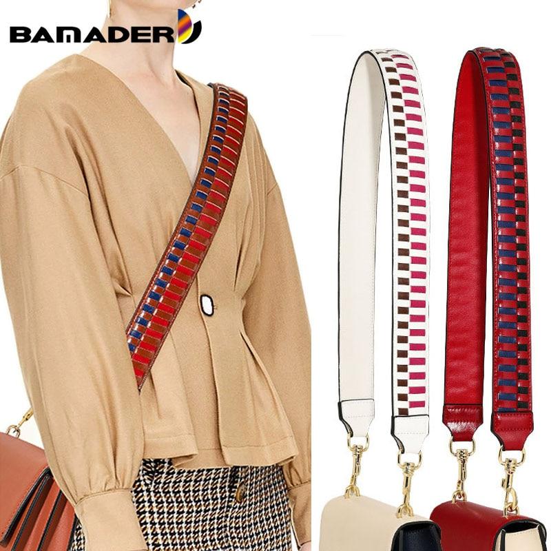 BAMADER Bag Strap Width Genuine Leather Shoulder Strap Woman Bag Accessories Bag Strap For Crossbody Fashion Shoulder Bag Strap