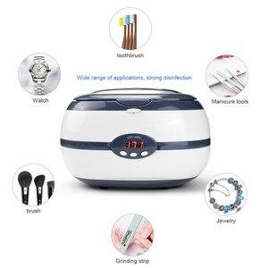 Ultra sonic cleaner banho jóias peças óculos manicure 220 v 600ml pedras cortadores dental navalha escova ultra-som sonic mais limpo