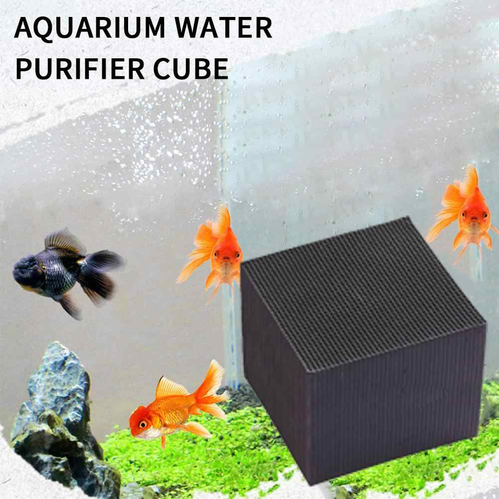 Eco-Aquarium for Pet Fish Activated Carbon Water Purifier 10X10cm Ultra Strong Filtration /& Absorption Remove Tannins/&Phenols,Solid Composition,No Powder,No impurities,Black,Imported 101010cm