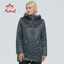2019 Astrid winter jacke frauen Kontrast farbe Wasserdichte stoff mit kappe design dicke baumwolle kleidung warme frauen parka BIN-2090
