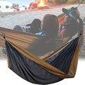 Кемпинг гамак двойной легкий портативный гамак с ремнями дерева для пешего туризма путешествия открытый пляж сад