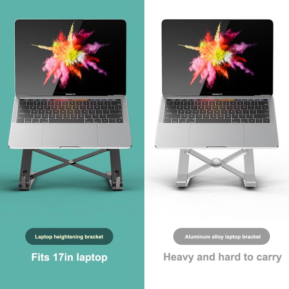 Adjustable Laptop Stand Foldable Support Base Notebook Stand Holder Lapdesk Computer Cooling Bracket Riser Home Office