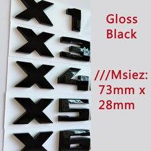 3d brilho preto m-sport emblema para bmw m1 m2 m3 m4 m5 m6 x1m x2m x3m x4m x5m x6m carro tronco adesivo traseiro emblemas letras