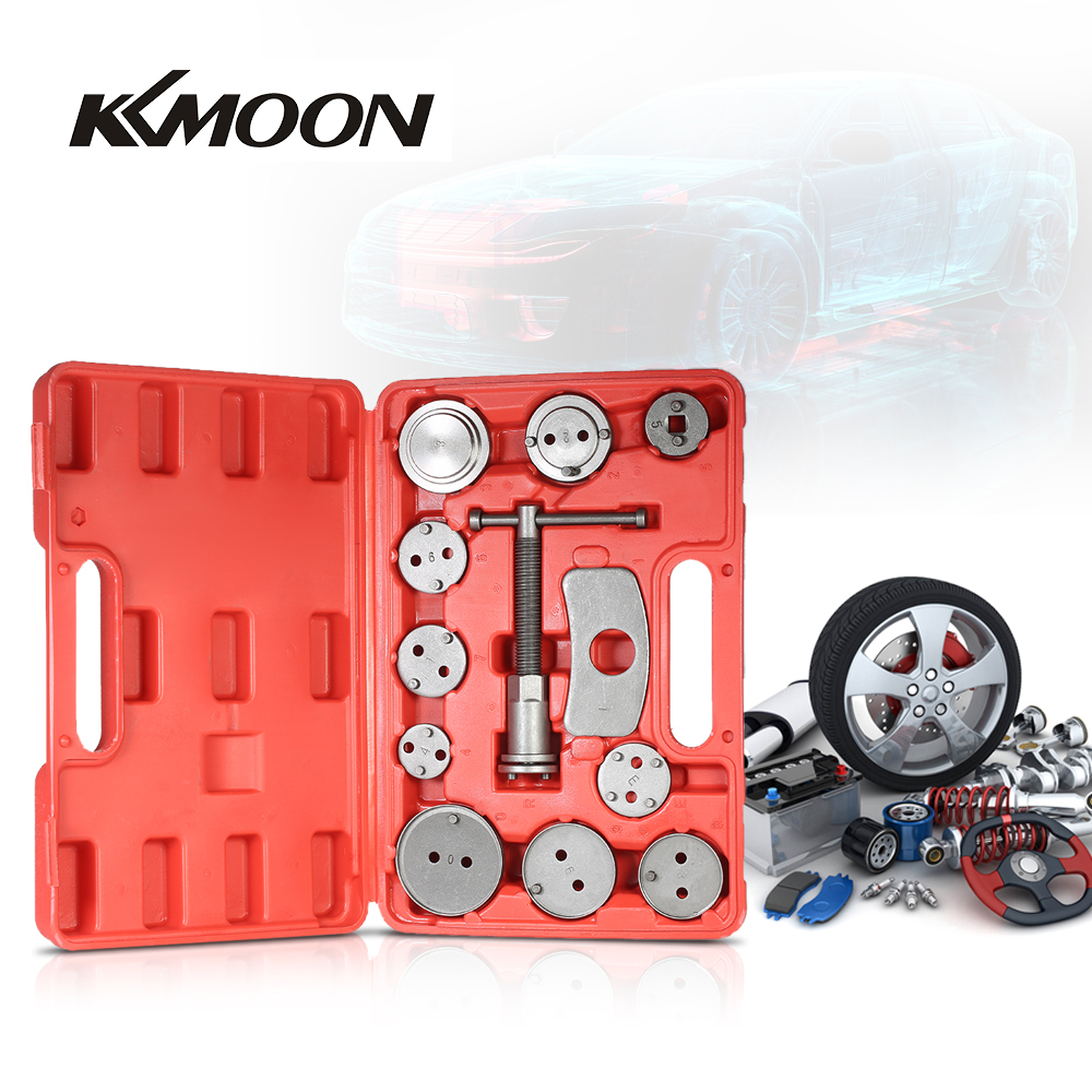 New 12pcs Auto Universal Disc Brake Caliper Car Wind Back Pad Piston Compressor Automobile Garage Repair Tool Kit Set with Case
