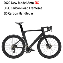 2020 Model AERO SIX Carbon Disc Road Frame disc brake bicycle frame fork seatpost with 5D carbon handlebar