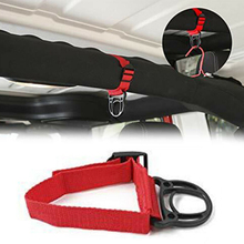 1pc ABS Coat Hook Red + Black Car Unlimited Roll Bar Clothes Hanger For Wrangler JK JL 2007-2018