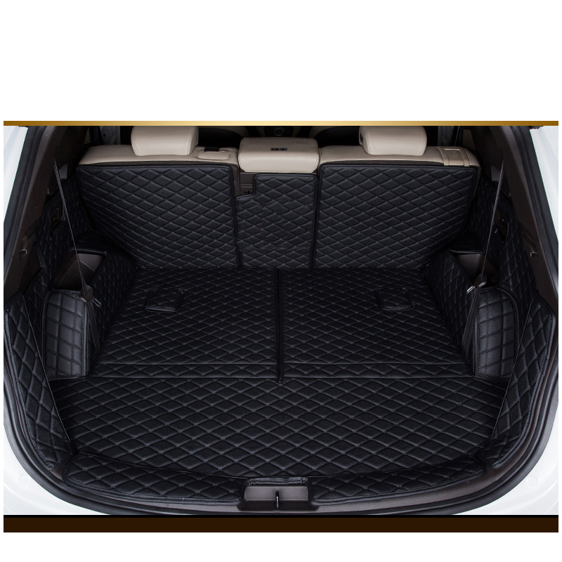 lsrtw2017 for hyundai santa fe leather car trunk mat cargo liner 2013 2014 2015 2016 2017 2018 3rd generation|  - title=