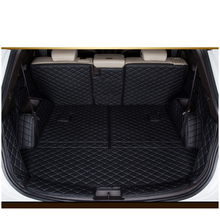 lsrtw2017 for hyundai santa fe leather car trunk mat cargo liner 2013 2014 2015 2016 2017 2018 3rd generation