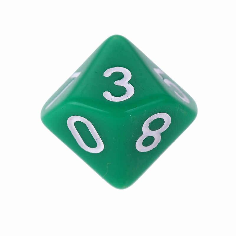 Hot Hot Multicolor D10 สิบ Dice Gem เรซิ่น Pearl Gemmed Dices Die โปร่งใส (0-9) ชุดเล่นเกม
