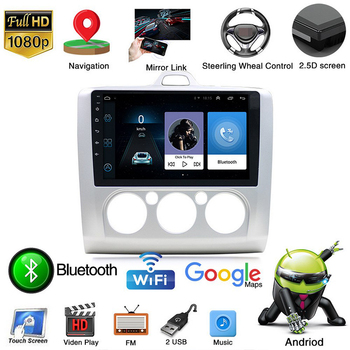 Car Radio Multimedia Player 2din Android 9.1 for Ford Focus 2004-2011 Navigation Autoradio 9' Touch Screen GPS WIFI Bluetooth FM image