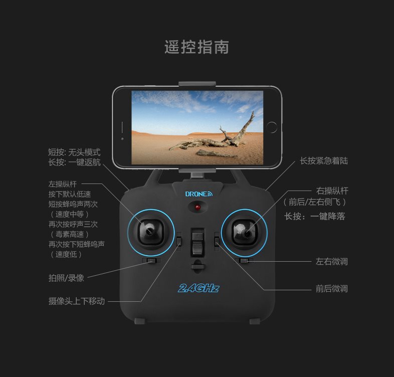 Create Sega Unmanned Aerial Vehicle Profession High-definition Aerial Flight Real-Time Transmission Quadcopter Four-Rotor Remote