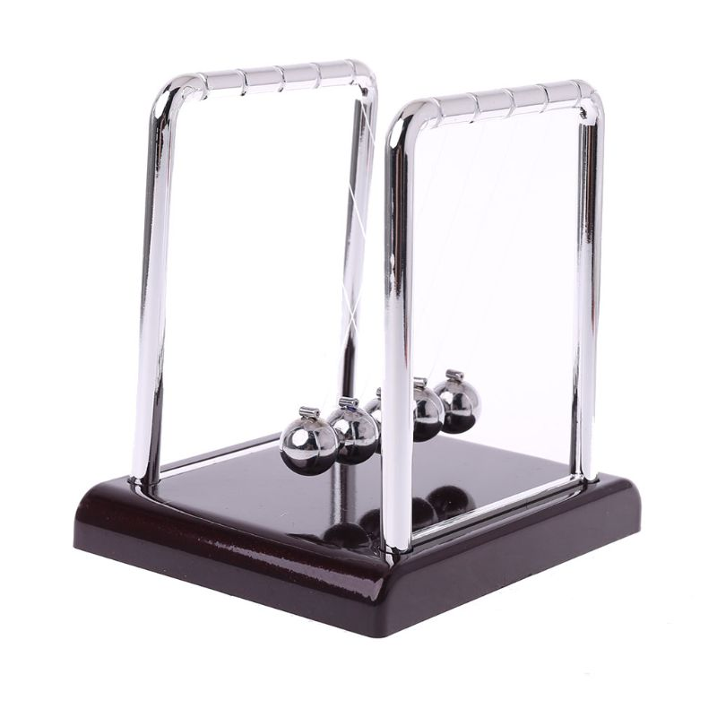 Cradle Steel Newton's Balance Ball Physics Science Pendulum Fun Desk Toy Gift LX9A