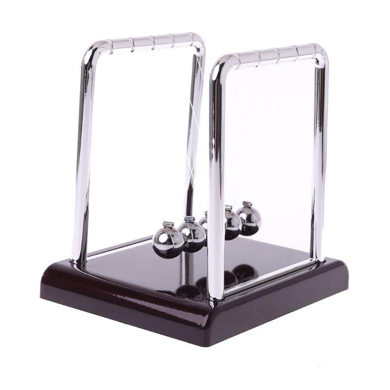 Cradle Steel Newton's Balance Ball Physics Science Pendulum Fun Desk Toy Gift LX9A
