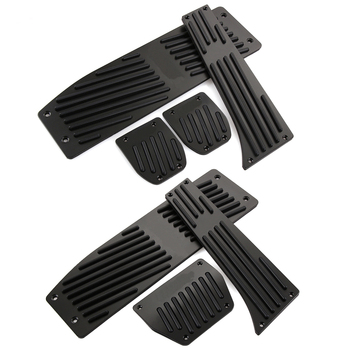 Fashion Silver/Black Aluminium Alloy Car Pedals Rest For BMW X1 M3 E30 E36 E39 E46 E87 E90 E91 E92 E93 Car-Styling accessories image