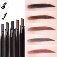New 4 Color Eyebrow Pencil Natural Waterproof Rotating Automatic Eyeliner Eye Brow Pencil with Brush Beauty Cosmetic Tool(China)