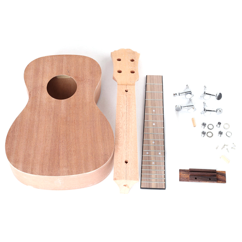23 Inch Ukulele Diy Kit Mahogany Strings Hawaiian Guitar For Handwork Painting Perfect Parents-Child Campaign