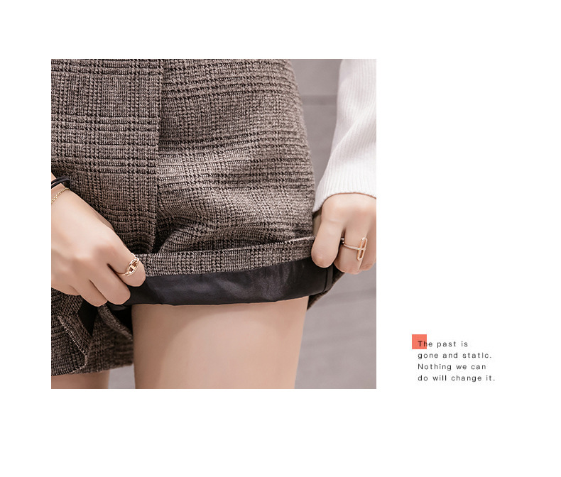 H49251d587f8646589d51d2c3e18e8ab7J - Irregular Woolen Plaid Shorts Skirts For Women Atumn Winter Office Short Women Plus Size Booty Shorts Feminino
