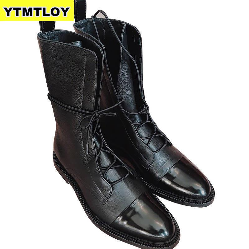New 2020 Winter Thick With Thick Bottom British Locomotive Martin Boots For Cylinder Knight Ladies Boots Mid-calf Boot Women