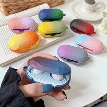 Цветной защитный чехол с градиентом для samsung galaxy buds