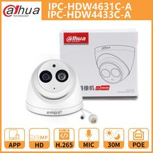 DH Dahua caméra IP 4MP 6MP IPC HDW4631C A IPC HDW4433C A dôme caméra de vidéosurveillance avec IR PoE intégré micro réseau coque métallique Onvif