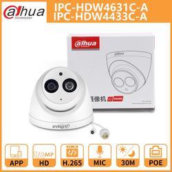 DH Dahua IP камера 4MP 6MP IPC-HDW4631C-A IPC-HDW4433C-A купольная CCTV камера с ИК PoE Встроенный микрофон сетевая металлическая оболочка Onvif