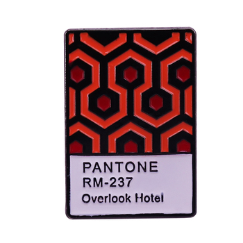 The Shining Overlook Hotel Pantone Enamel Pin Horror Classic Film This iconic carpet which has become something of a cult item image
