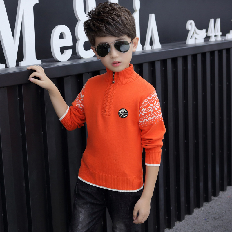 Boy's clothing Winter Cotton products clothing Boy's Sweater  pullover Sweater  Kids clothes children's Sweater winter Keep warm 3