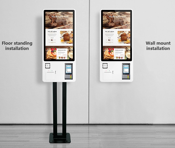 Одно-двухмерное устройство сканирования кода, встроенное в камеру и 4G modual и принтер самообслуживания заказа платежный киоск
