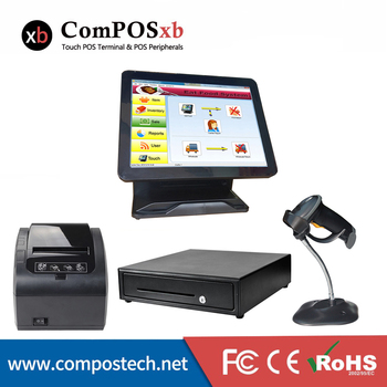 China high quality pos all in one 15 inch capacitive touch screen pos machine easy to operate for retail